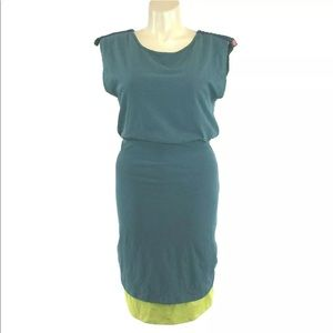 Matilda Jane L Dress Good Hart Teal Lime Midi CUTE